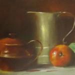 Copper Tea Pot 9X12