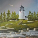 Burnt Island Light, Maine11X14