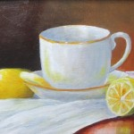 Cup with Lemons 8x9