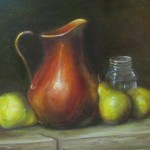 Copper Vase and Pears 12x16